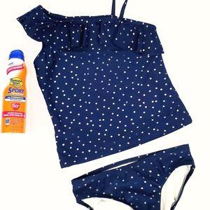 OshKosh B'Gosh 2 Piece Tankini Swim Suit Size 8